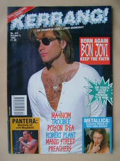 <!--1992-10-03-->Kerrang magazine - Jon Bon Jovi cover (3 October 1992 - Is