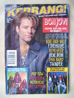 <!--1993-01-16-->Kerrang magazine - Jon Bon Jovi cover (16 January 1993 - I