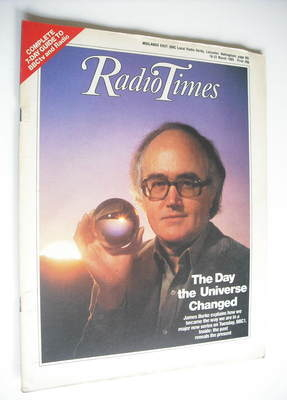 <!--1985-03-16-->Radio Times magazine - James Burke cover (16-22 March 1985