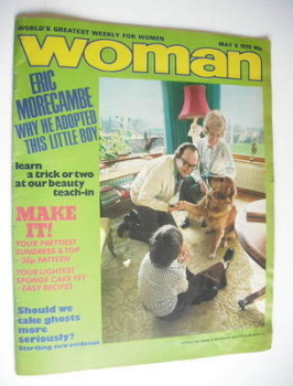 Woman magazine (8 May 1976 - Eric Morecambe cover)