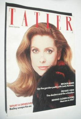 <!--1981-09-->Tatler magazine - September 1981 - Catherine Deneuve cover
