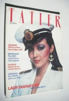 Tatler magazine - March 1981 - Marie Helvin cover