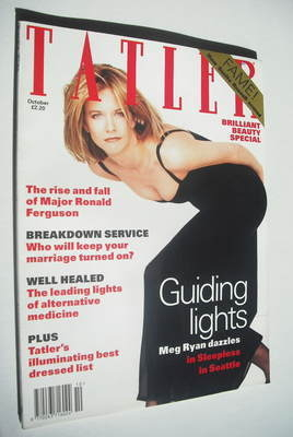<!--1993-10-->Tatler magazine - October 1993 - Meg Ryan cover