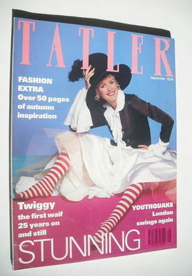 <!--1993-09-->Tatler magazine - September 1993 - Twiggy cover