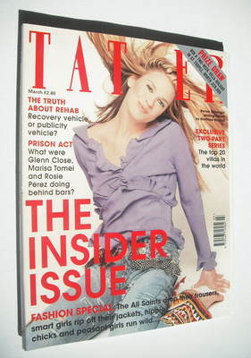 <!--1999-03-->Tatler magazine - March 1999 - Renee Zellweger cover