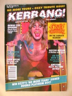 <!--1992-12-12-->Kerrang magazine - Ozzy Osbourne cover (12 December 1992 -