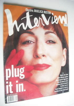 Interview magazine - December 1991 - Anjelica Huston cover