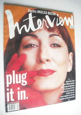 <!--1991-12-->Interview magazine - December 1991 - Anjelica Huston cover