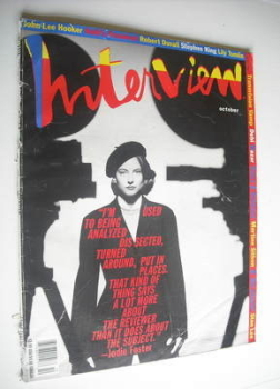 Interview magazine - October 1991 - Jodie Foster cover