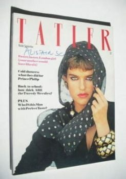 Tatler magazine - September 1980 - The Hon Clare Beresford cover