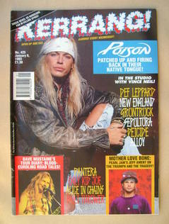 <!--1993-01-09-->Kerrang magazine - Bret Michaels cover (9 January 1993 - I
