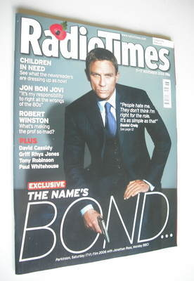 <!--2006-11-11-->Radio Times magazine - Daniel Craig cover (11-17 November