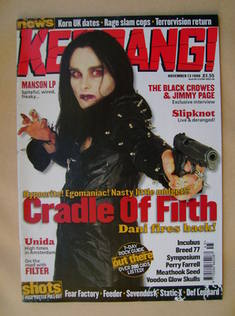 <!--1999-11-13-->Kerrang magazine - Dani Filth cover (13 November 1999 - Is