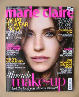 <!--2009-02-->British Marie Claire magazine - February 2009 - Courteney Cox