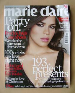 <!--2007-12-->British Marie Claire magazine - December 2007 - America Ferre