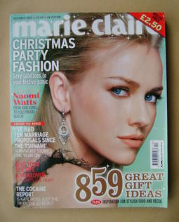<!--2005-12-->British Marie Claire magazine - December 2005 - Naomi Watts c