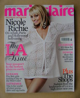 <!--2007-08-->British Marie Claire magazine - August 2007 - Nicole Richie c