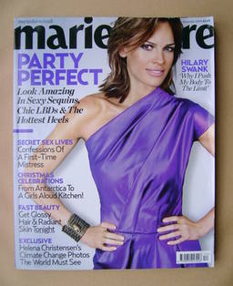 <!--2009-12-->British Marie Claire magazine - December 2009 - Hilary Swank