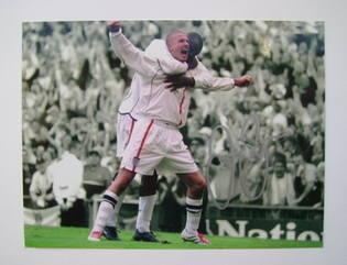 David Beckham autographed photo