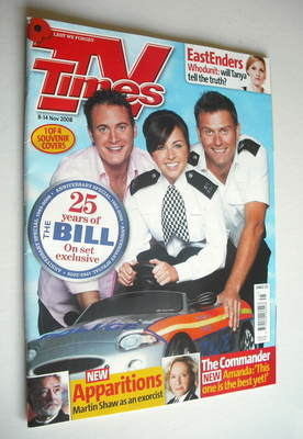 <!--2008-11-08-->TV Times magazine - The Bill cover (8-14 November 2008)
