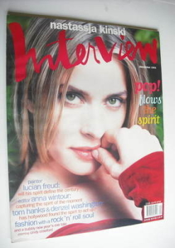 Interview magazine - December 1993 - Nastassja Kinski cover