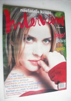 Interview magazine - December 1993 - Nastassja Kinski cover