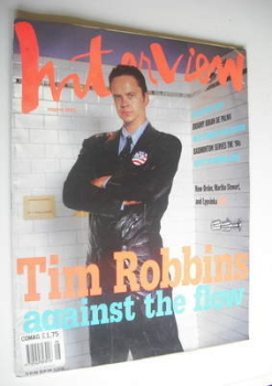 Interview magazine - August 1992 - Tim Robbins cover