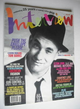 Interview magazine - March 1994 - Tom Hanks cover