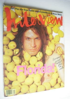 Interview magazine - February 1993 - Evan Dando cover
