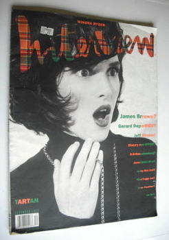 Interview magazine - December 1990 - Winona Ryder cover
