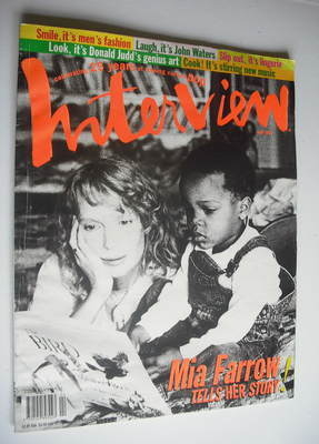 <!--1994-04-->Interview magazine - April 1994 - Mia Farrow cover