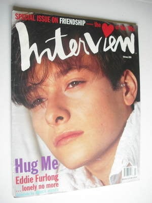 <!--1995-02-->Interview magazine - February 1995 - Eddie Furlong cover