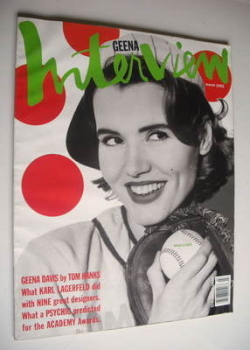 Interview magazine - March 1992 - Geena Davis cover