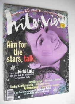 Interview magazine - January 1994 - Ricki Lake cover