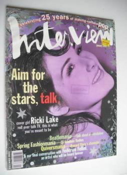 Interview magazine - January 1994 - Ricki Lake cover