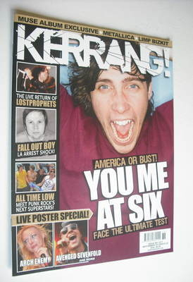 <!--2009-09-05-->Kerrang magazine - You Me At Six cover (5 September 2009 -