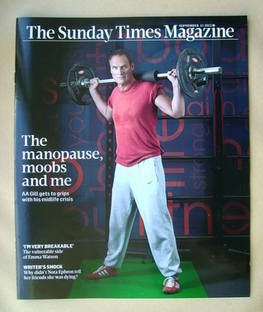<!--2012-09-23-->The Sunday Times magazine - AA Gill cover (23 September 20