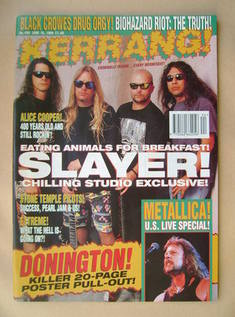 <!--1994-06-18-->Kerrang magazine - Slayer cover (18 June 1994 - Issue 499)