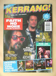 <!--1993-02-20-->Kerrang magazine - Jim Martin and Mike Patton cover (20 Fe