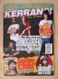 <!--1994-02-12-->Kerrang magazine - Soundgarden cover (12 February 1994 - I