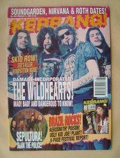 <!--1994-02-05-->Kerrang magazine - The Wildhearts cover (5 February 1994 -
