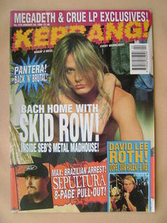 <!--1994-01-29-->Kerrang magazine - Sebastian Bach cover (29 January 1994 -