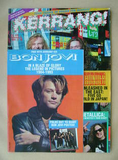 <!--1993-02-06-->Kerrang magazine - Thunder cover (6 February 1993 - Issue