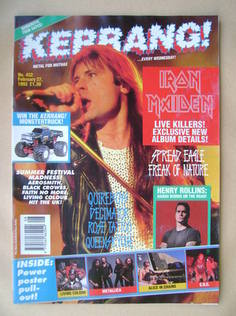 <!--1993-02-27-->Kerrang magazine - Bruce Dickinson cover (27 February 1993
