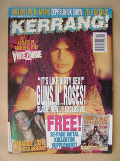 <!--1994-03-12-->Kerrang magazine - Slash cover (12 March 1994 - Issue 485)