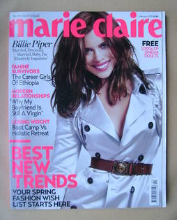 <!--2010-02-->British Marie Claire magazine - February 2010 - Billie Piper