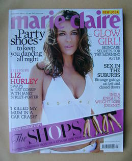 <!--2007-01-->British Marie Claire magazine - January 2007 - Elizabeth Hurl