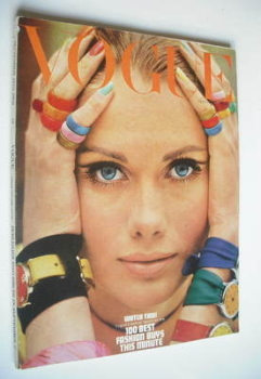 British Vogue magazine - 15 September 1966 - Maud Adams cover
