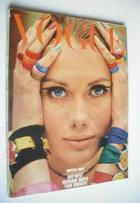 <!--1966-09-15-->British Vogue magazine - 15 September 1966 - Maud Adams co