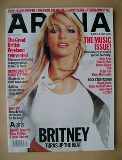 <!--2002-04-->Arena magazine - April 2002 - Britney Spears cover
